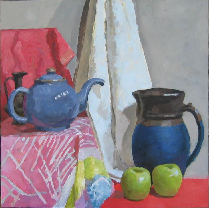 Blue Teapot and Frien... by  Melissa Hefferlin - Masterpiece Online