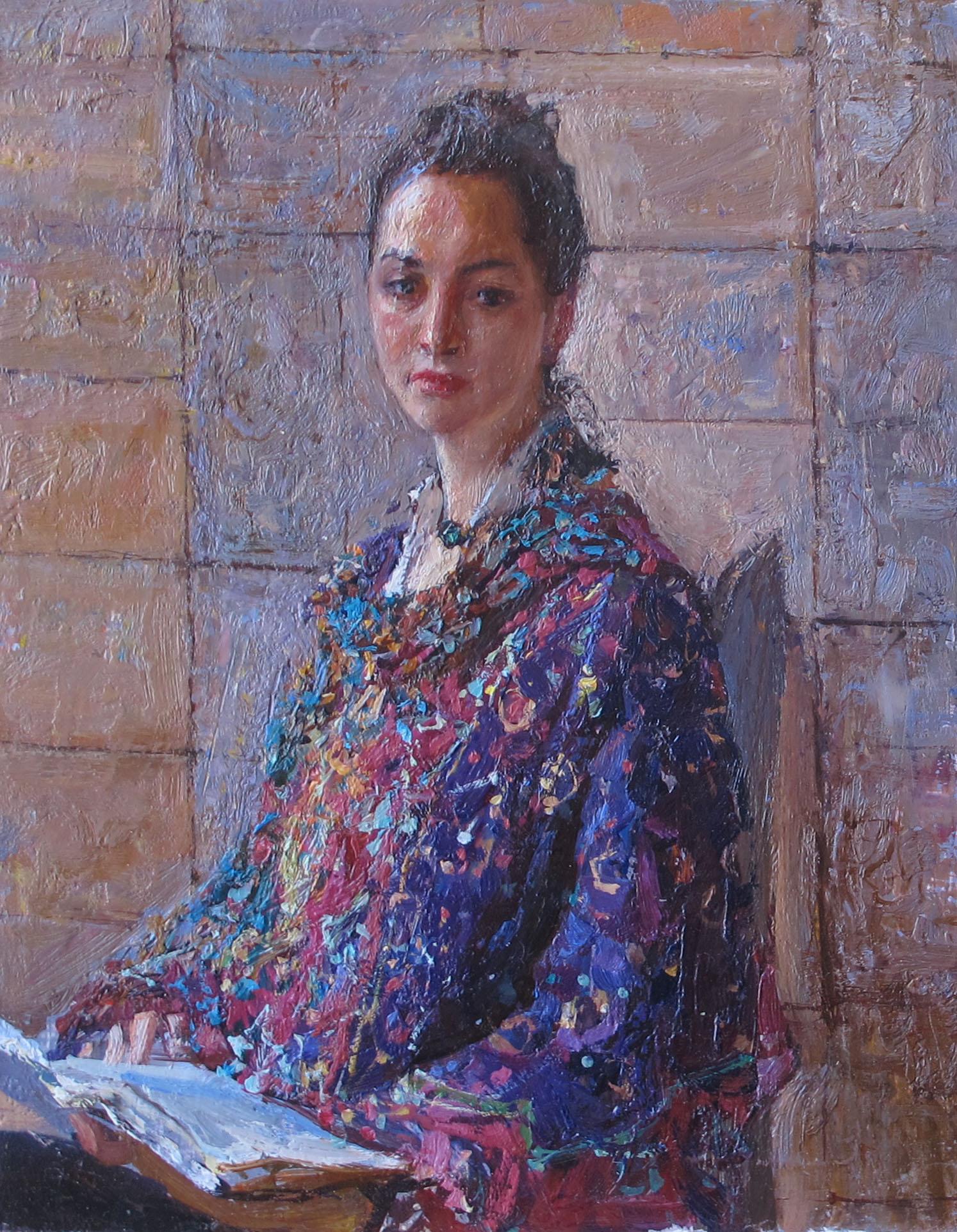 Lola Reading by  Daud Akhriev - Masterpiece Online