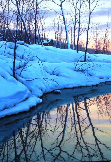 Winter Stream by  Alexei Butirskiy - Masterpiece Online