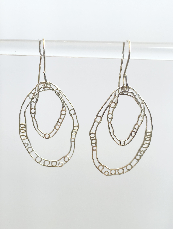 Lace Earrings- Hoops by  Dorit Herlinger - Masterpiece Online