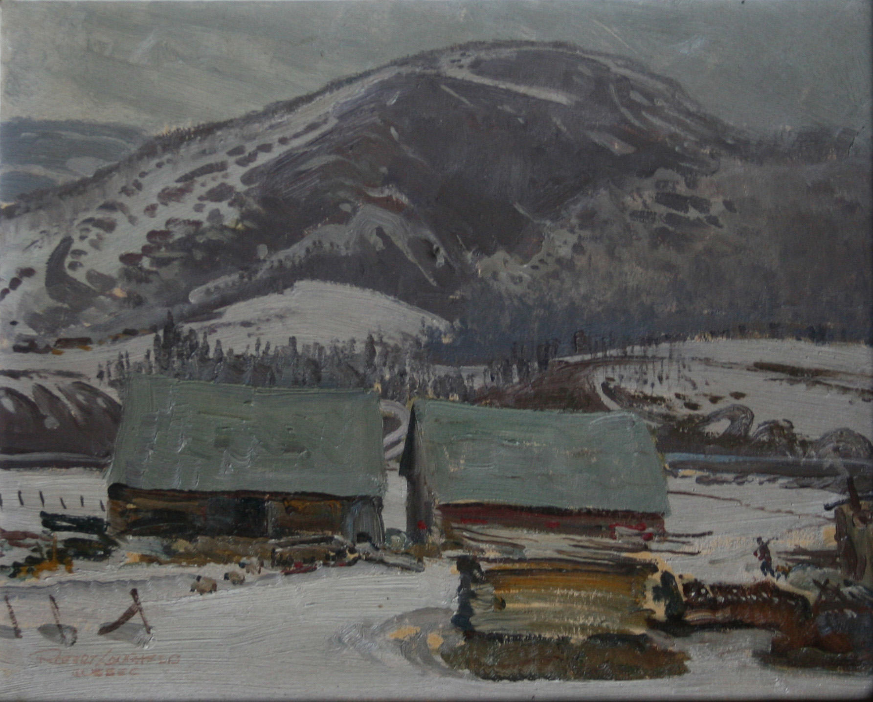 Quebec Grey Day by  Robert Lougheed - Masterpiece Online