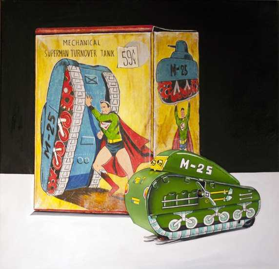 Superman and The Tank by  Vic Vicini - Masterpiece Online