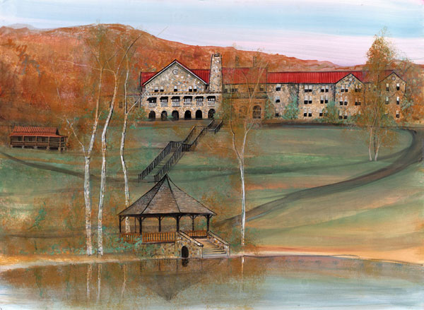 DP-MOUNTAIN LAKE by  P. Buckley Moss  - Masterpiece Online