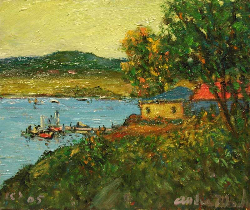 Dock Below the Hill by  Andres  Morillo - Masterpiece Online
