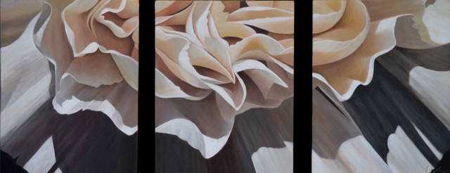 Carnation 19 Triptych by  Laurie Koss - Masterpiece Online