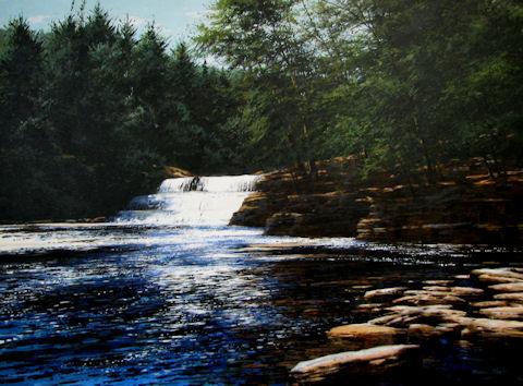 Waterfall - cool july... by  Michael Wheeler - Masterpiece Online