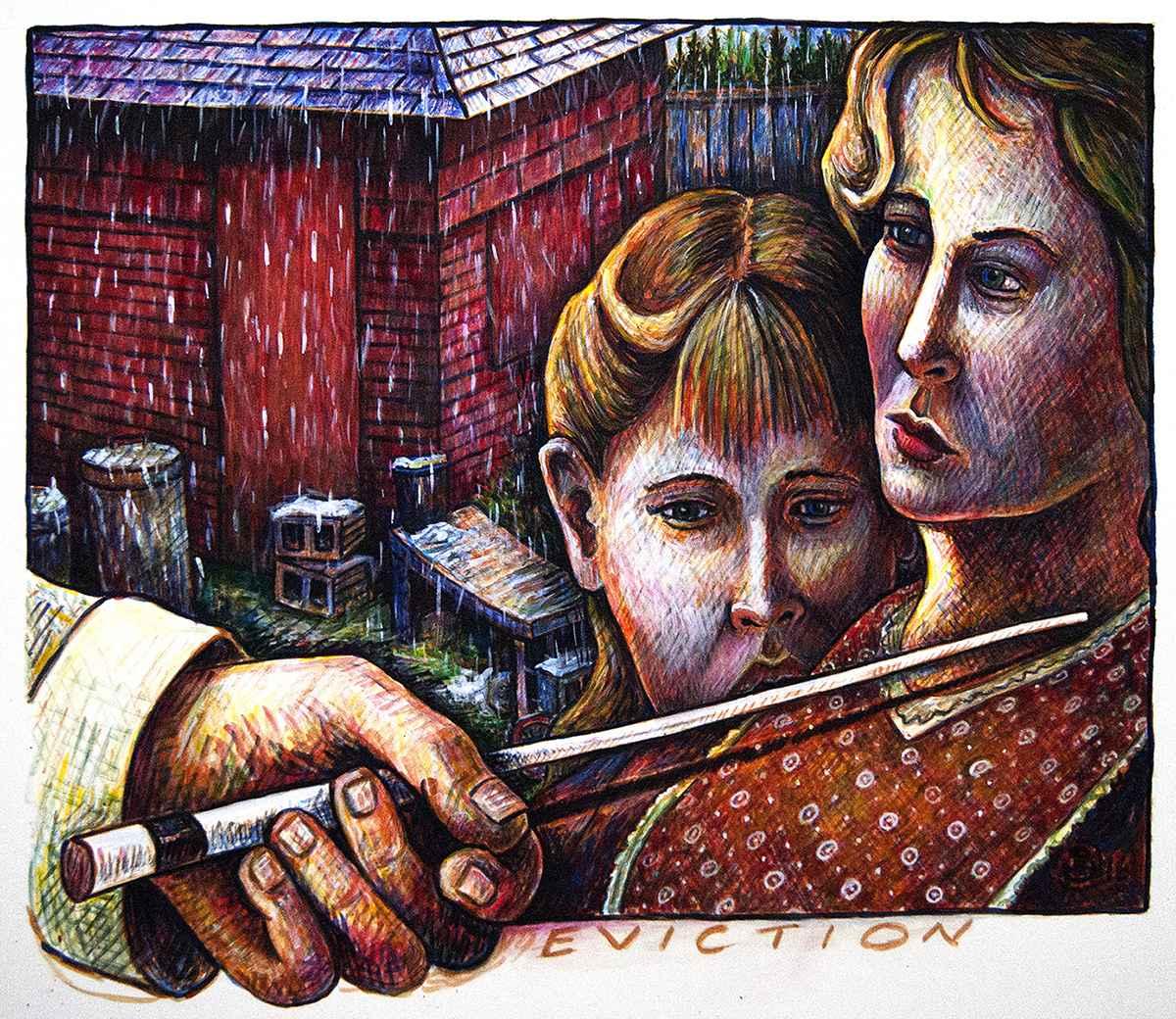 Rainy Day Cafe by  Patrick Doughman - Masterpiece Online