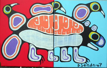 Great Beaver with Thr... by  Norval Morrisseau - Masterpiece Online