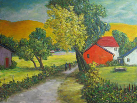 Farm with Houses by  Andres  Morillo - Masterpiece Online