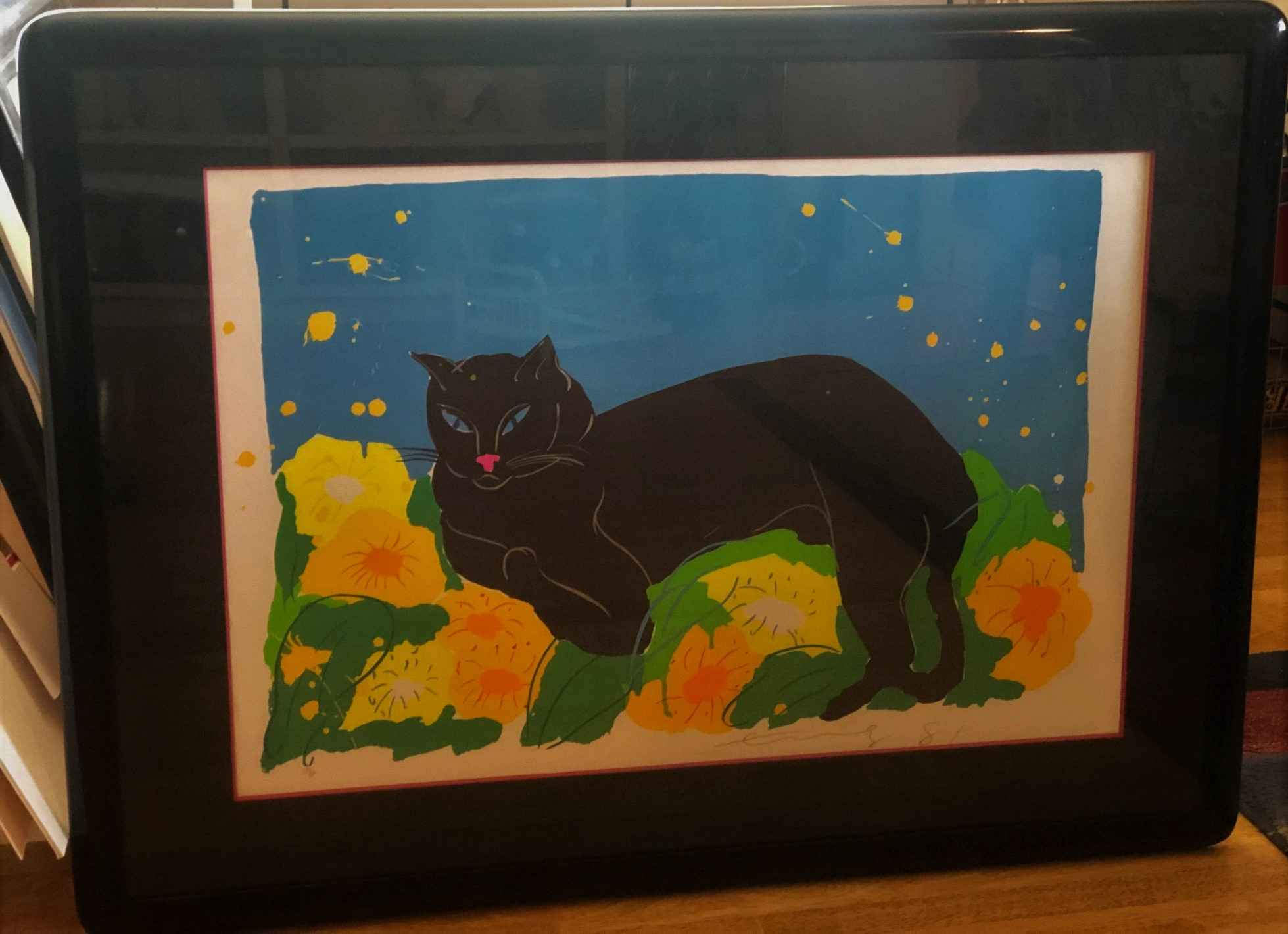 Black Cat by  Walasse Ting - Masterpiece Online
