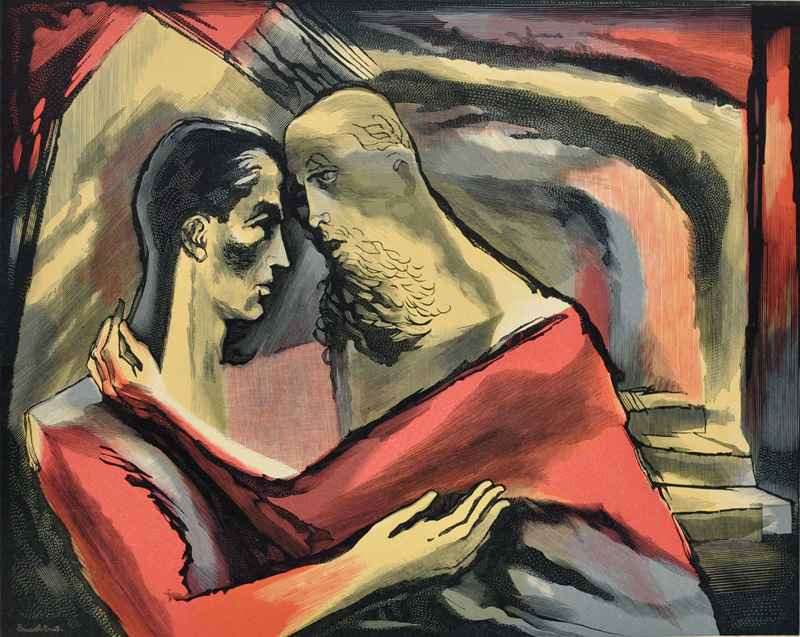 Polonius & Laertes  by  Bernard Brussel-Smith (1914-1989)