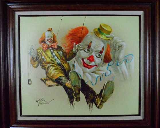 Swinging Clowns  by  William Hoffman