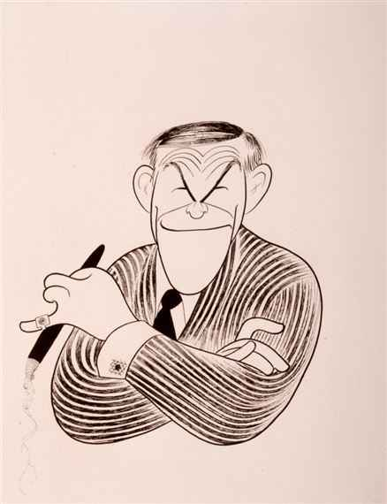 George Burns Caricatu... by  Al Hirschfeld - Masterpiece Online