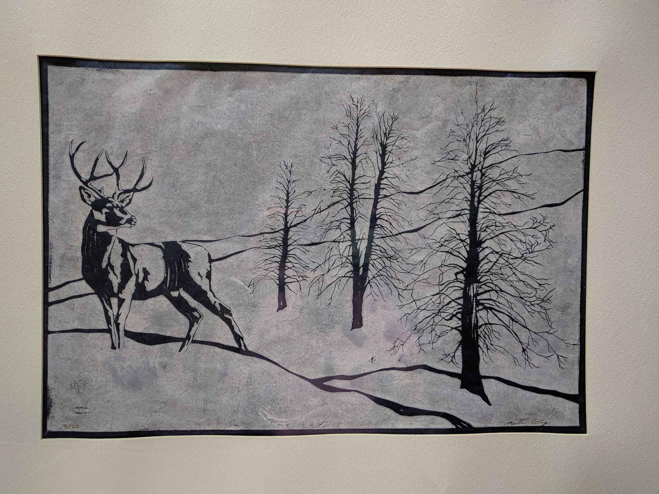 Deer (matted) by  Katherine Grey - Masterpiece Online