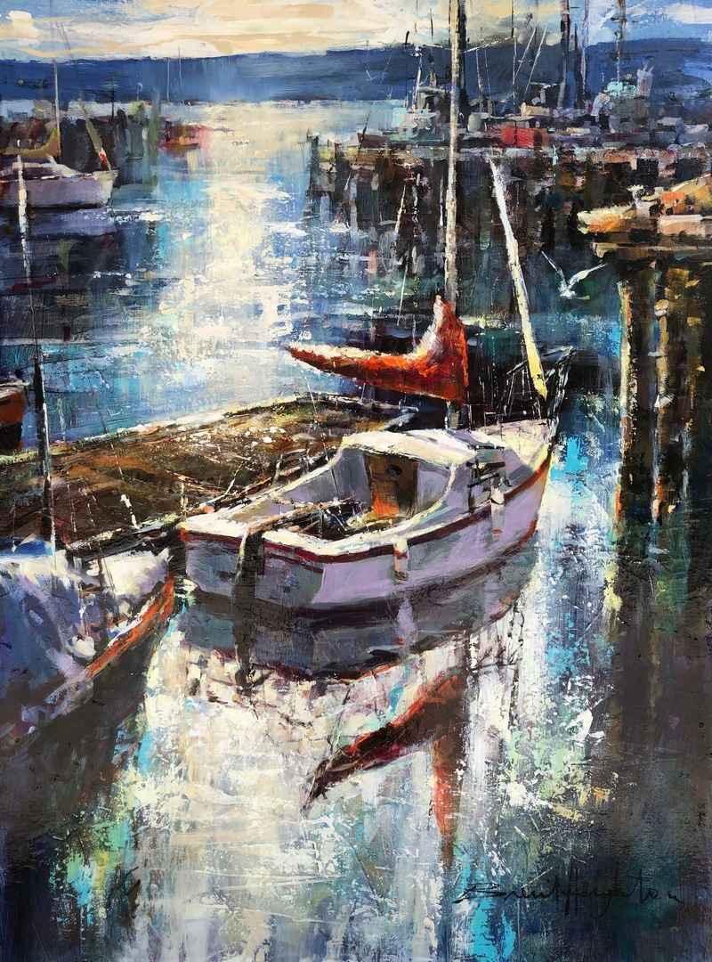 Harbour Lights by  Brent Heighton - Masterpiece Online
