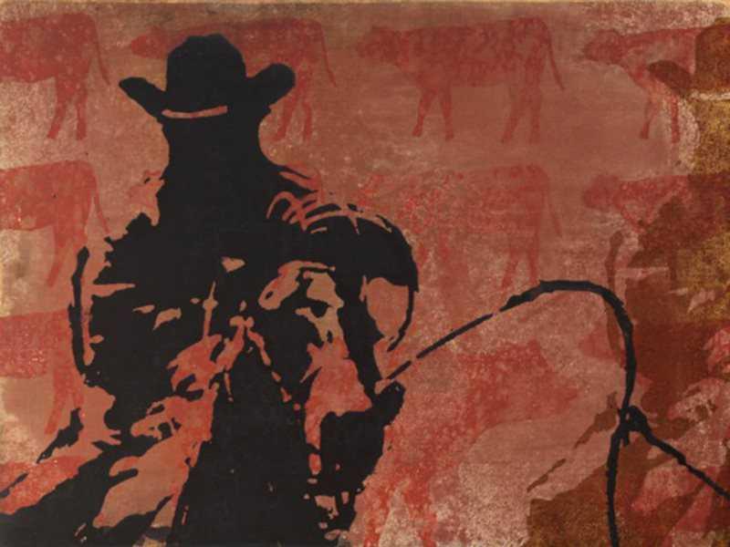 Rodeo Postcard VI  by  Maura Allen