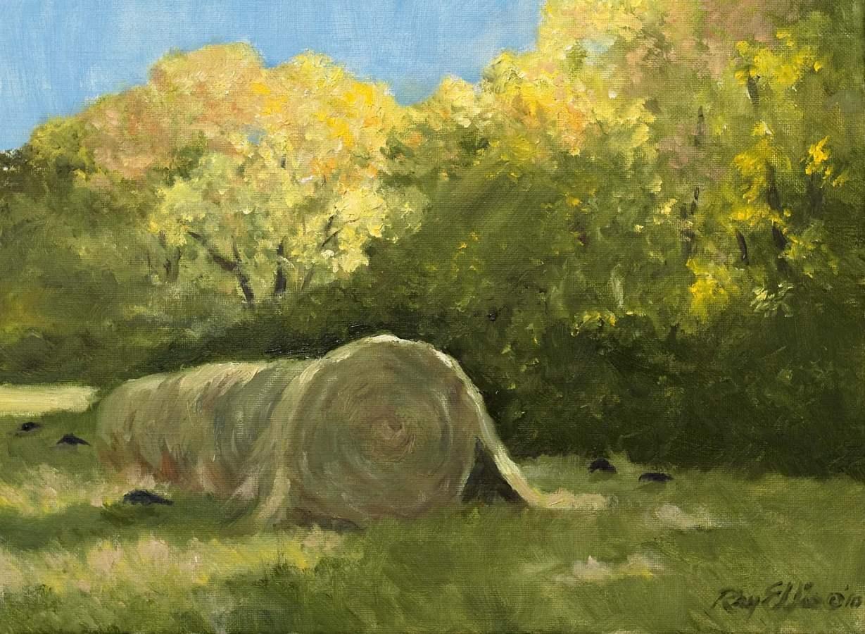 Sunlit Hay Field by  Ray Ellis - Masterpiece Online