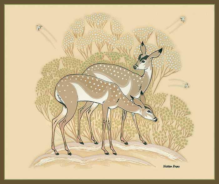 Navajo Antelope by  Harrison Begay - Masterpiece Online