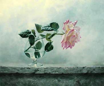 Study of a Rose by  Alexei Antonov - Masterpiece Online