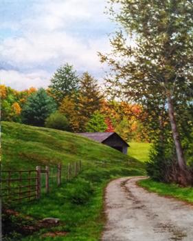Mountain Barn, Late S... by   Teresa  Wheeler - Masterpiece Online