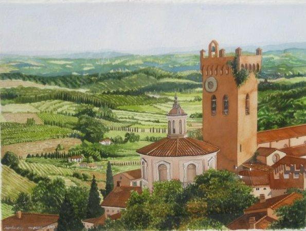 Landscape Near Cortona by  Rodney Moser - Masterpiece Online
