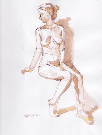 Figure Sketch: 8 by  Melissa Hefferlin - Masterpiece Online