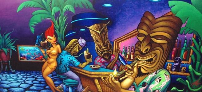 Tiki Bar by  The Pizz - Masterpiece Online