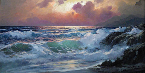 Pacific Sunset by  A. Dzigurski Sr.  - Masterpiece Online