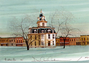 DAVIS COUNTY COURTHOU... by  P. Buckley Moss  - Masterpiece Online