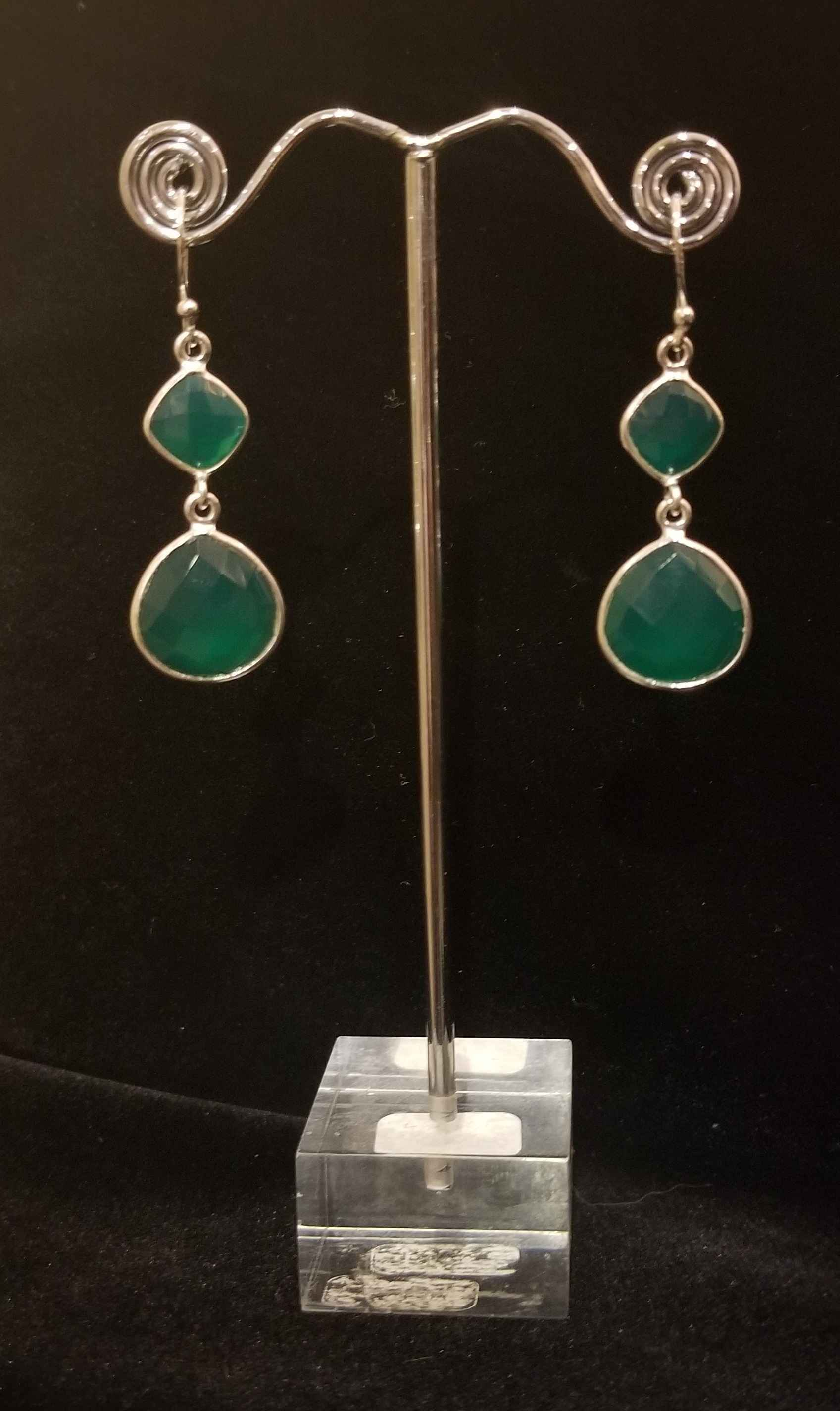 Earrings - Green Quar... by  Gallery Pieces - Masterpiece Online
