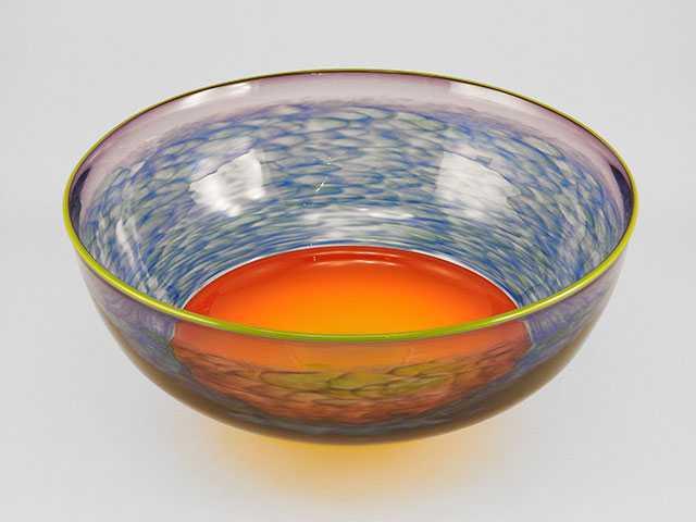 Sun Center Bowl/Green... by  Alex Brand - Masterpiece Online