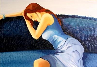 Blue  (SOLD)  by  Deborah Levy