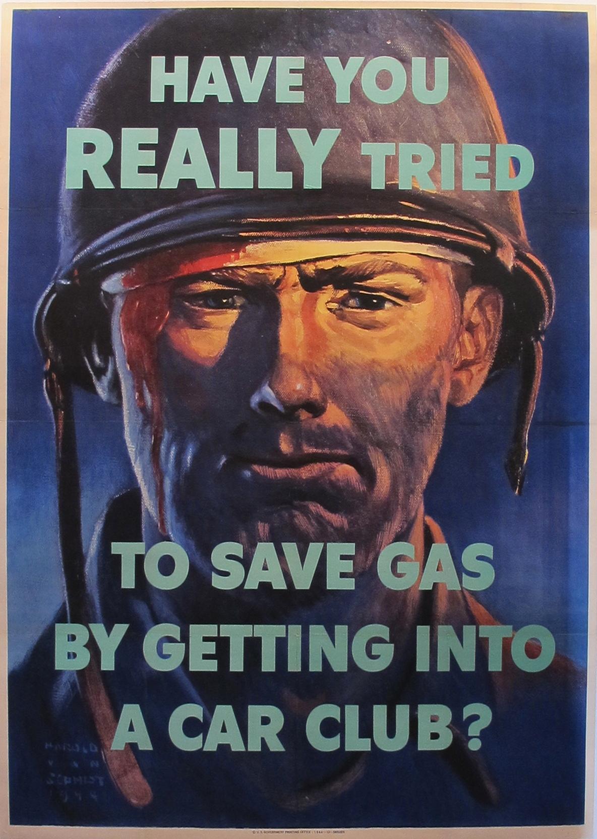 AP166 - Save Gas - WW... by  Harold van Schmidt - Masterpiece Online
