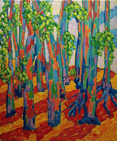 Eucalyptus with Fog by  Char  Michelson  - Masterpiece Online