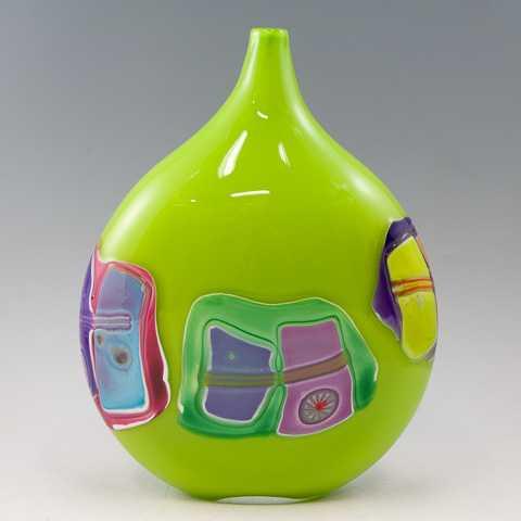 Vase/Lime Green Shard... by  James Wilbat - Masterpiece Online