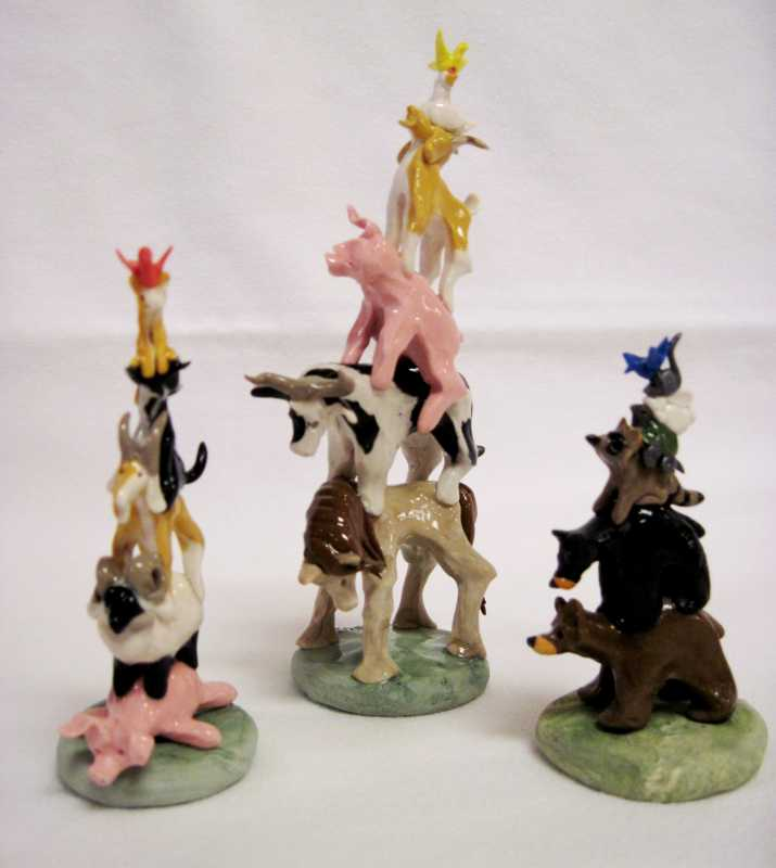 Stacked Animals In Po... by  Old Dog Boyd - Masterpiece Online