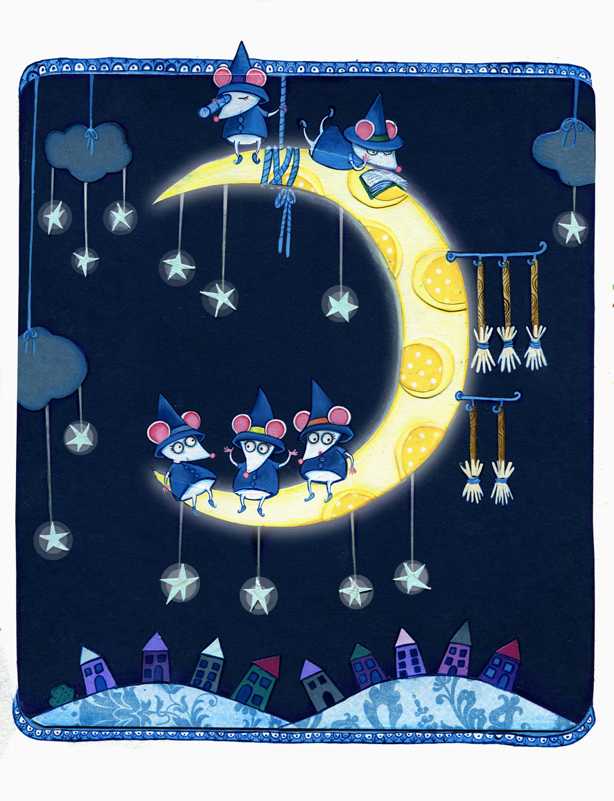 Mice on the Moon by  Sarah Aspinall - Masterpiece Online