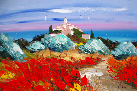High on the Hill by  Louis  Magre - Masterpiece Online