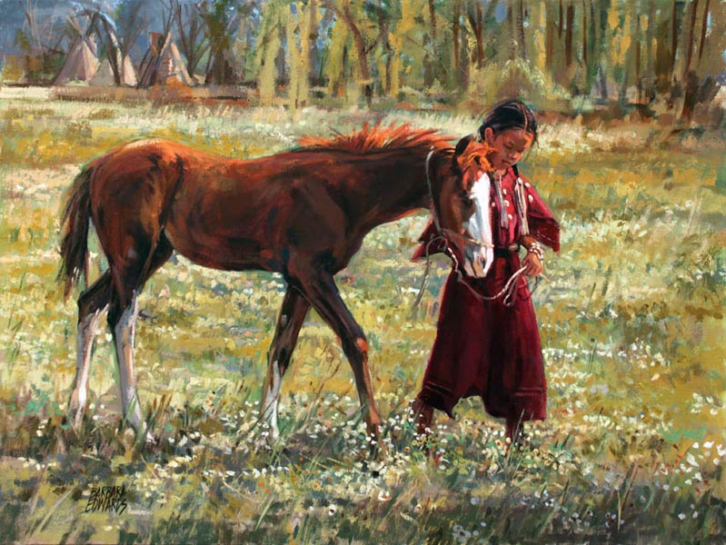 SOLD- A Charming Pai... by  Barbara Summers Edwards - Masterpiece Online