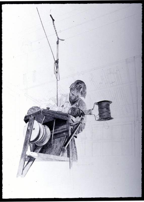 The Rigger (Study) by  Andrew Moore - Masterpiece Online
