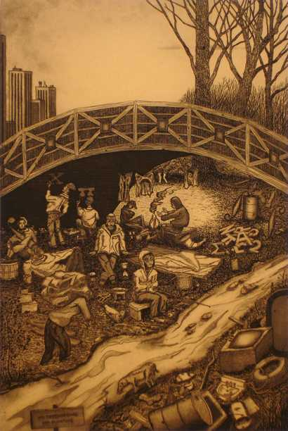 The Bridge Dwellers  by  John D. Gall - Masterpiece Online