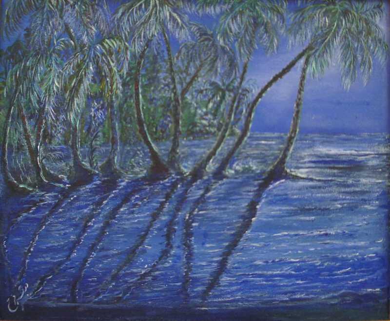 Blue Nights by Ms. Madiha Farag-Miller - Masterpiece Online