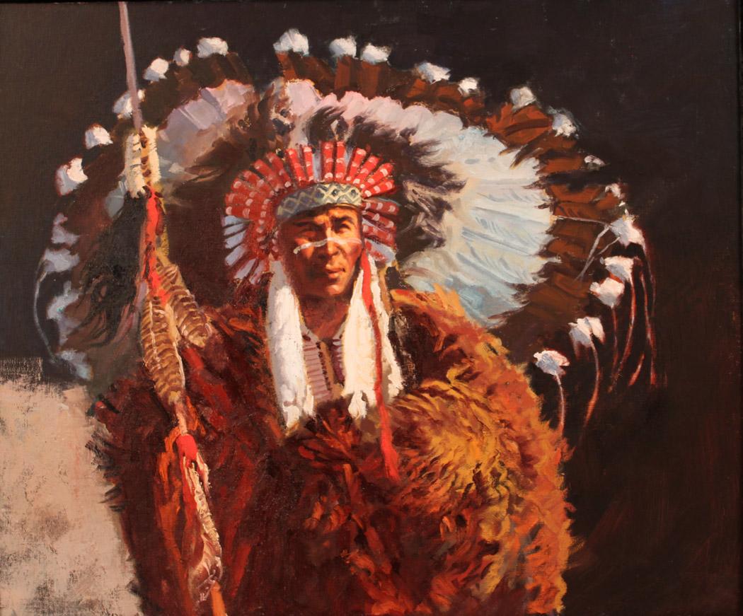 Chief Two Buffalos by  Glen Edwards - Masterpiece Online