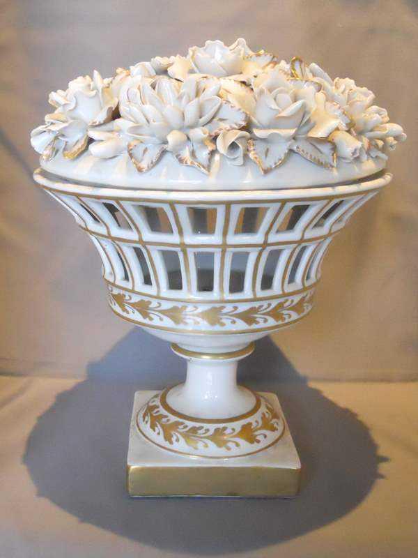 Porcelain Basket by  Spanish  - Masterpiece Online