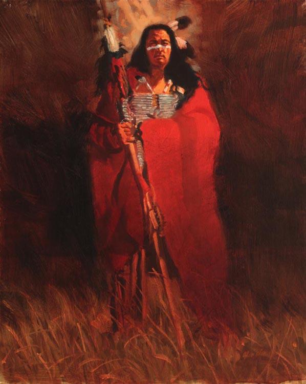 A NEW WORK- Red Blan... by  Glen Edwards - Masterpiece Online