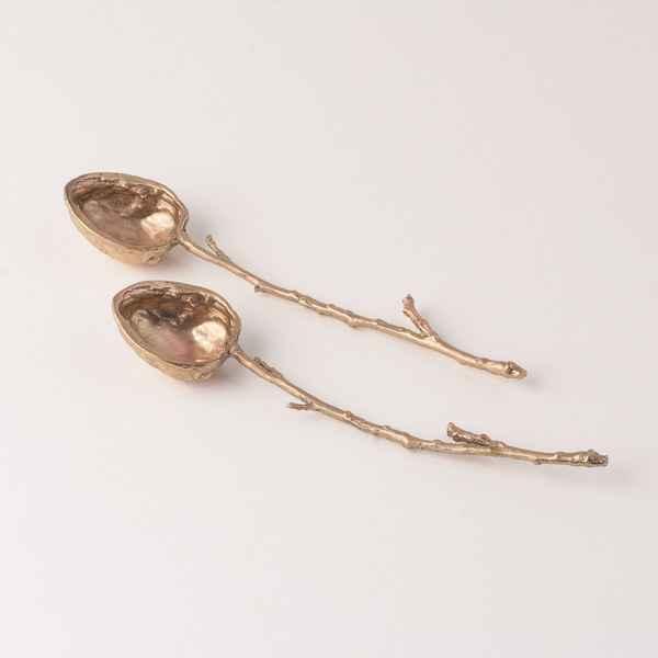 Walnut Spoons, Gold