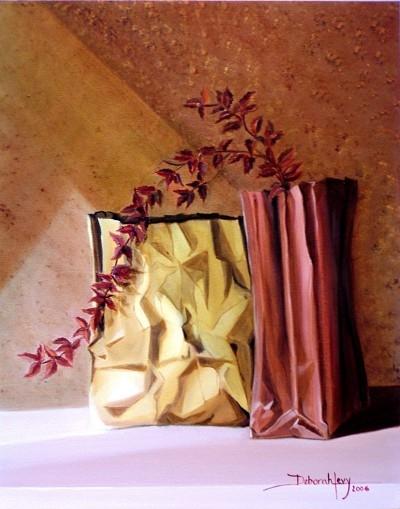 Red Bugainvilleas in ...  by  Deborah Levy