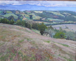 Fields of Pianettole,... by  Daud Akhriev - Masterpiece Online