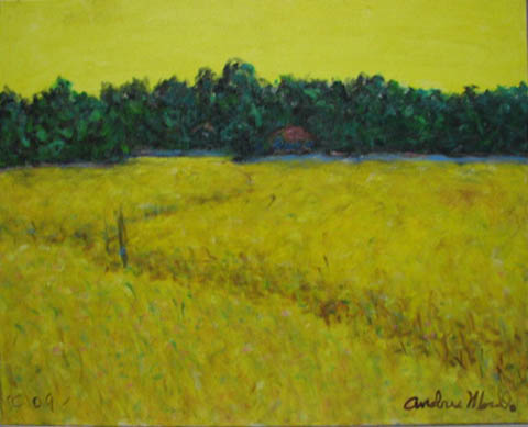 Yellow Field in Summer by  Andres  Morillo - Masterpiece Online