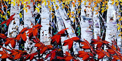 Night Birch 181437 by  Maya Eventov - Masterpiece Online